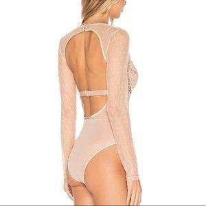 Bardot nude bodysuit